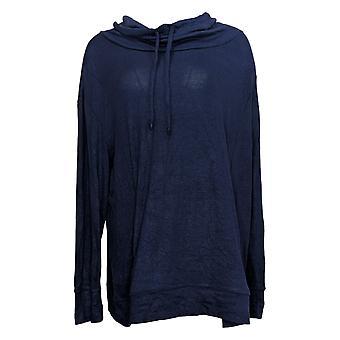 Noen Kvinners Genser Cowl Neck Pullover Blå A310152