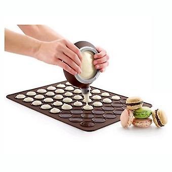 Large Marcarons Decorating Spout Pot Silicone Baking Mat 48 Holes Baking Pastry Tool Rolling Dough Mat