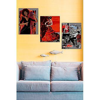 MDF0095 Flerfärgad dekorativ MDF-målning (3 stycken)