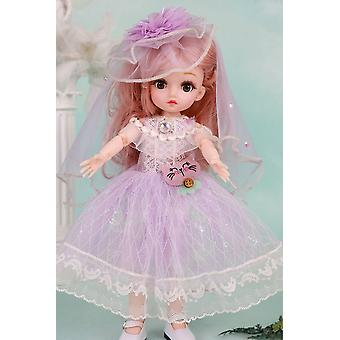 12-Inch miuli doll princess will blink for girl's birthday gift
