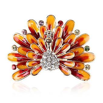Delicate Brooch Pin Phoenix Corsage Painted Ladies Brooch