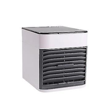New Generation Mini Air Cooler Home Office Desktop Portable Leafless Fan(White)