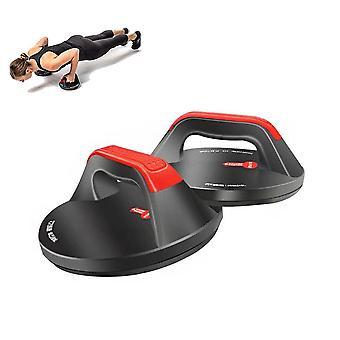 押し上げハンドル腹部筋肉トレーニング360°回転はバーホームフィットネスエクササイズツールをプッシュアップ
