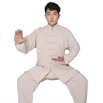 Tai chi Uniform Puuvilla Taistelulajit Aikuiset Kung fu Wing Chun Wushu Puku
