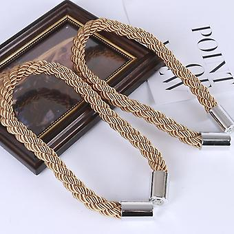 Minimalist curtain sequins thick rope straps rope magnetic snap punch-free curtain buckle