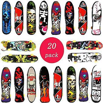 Fingerskateboard Set - 20PCS Fingerboard,Mini Skateboard Finger Für Kindergeburtstage,,