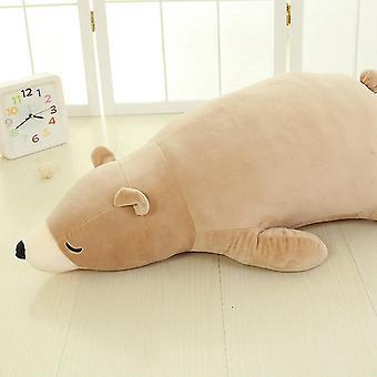 60cm eläinnukke jääkarhu tyynyn pehmolelu on söpö, pehmeä, herkkä ja joustava kosketukseen