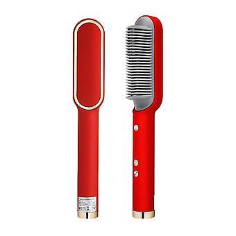 Elektrische Haarbürste Glätteisen Heizung Kämme Frauen Frisurr Lockenstab schnelle heiße Kamm Heizung Lockenwickler Haarpflegewerkzeuge