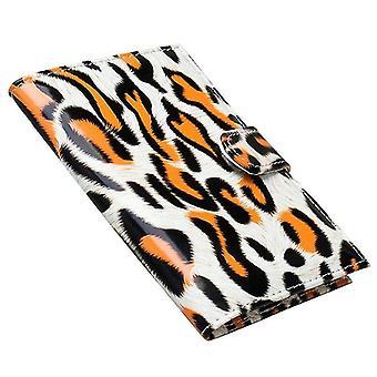 Passtasche, Leopard-Orange