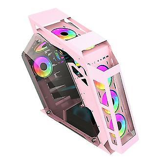 Computer Main Case Gaming Internet Cafe Computer Case, Culoare: Big Coffee Pink