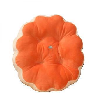 Round Cushion Computer Office Chair Cushion(Orange)