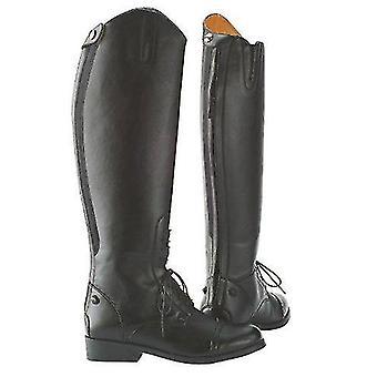 حصان الأحذية الساق يلتف طول الركبة ركوب الخيل الأحذية مع سستة الظهر
