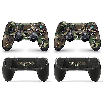 GNG 2 x Camouflage PlayStation 4 PS4 Controller Skins Fuld Wrap Vinyl Sticker