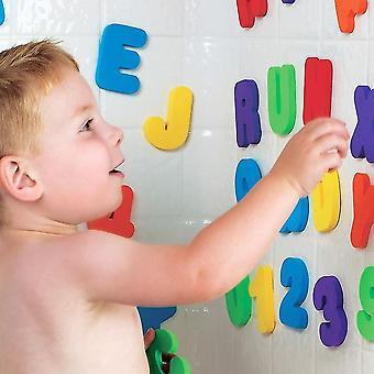 A-z Buchstaben und 0-9 Zahlen - Schaum schwimmende Badewanne Aufkleber