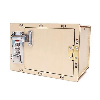 Hoogwaardige mechanische wachtwoord box set houten model