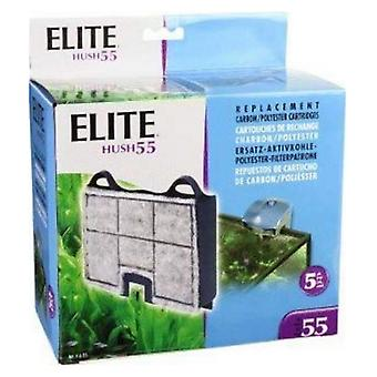 Elite Hush 55 Replacement Carbon / Polyester Cartridges - 5 count