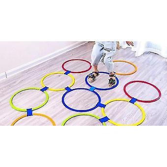 Kinder-Hopscotch-Springtrainingsringe (10 Kreise (28cm))