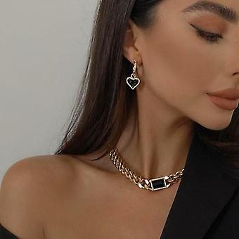 Black love vintage earrings necklace set