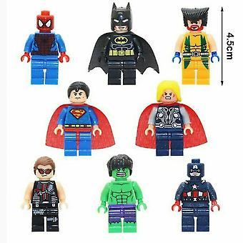 8pcs/set Avengers Superhelden Custom Mini Figuren Hulk Thor
