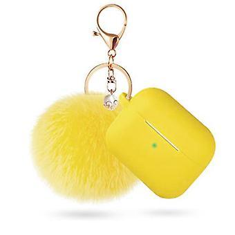Boîtier protecteur air pods avec porte-clés et pompon