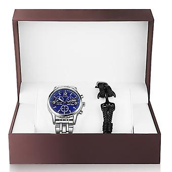 Men's Stainless Steel Watch And  Bracelet