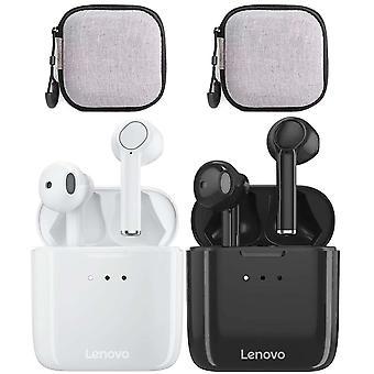 2 sett med Lenovo Qt83 trådløse Bluetooth-øretelefoner med øretelefonveske