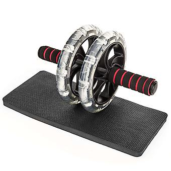 ProWorks Ab Roller and Mat - Black / Red
