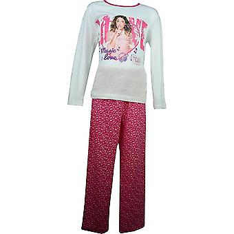 Girls Disney Violetta Long Sleeve Pyjama Set OE2219