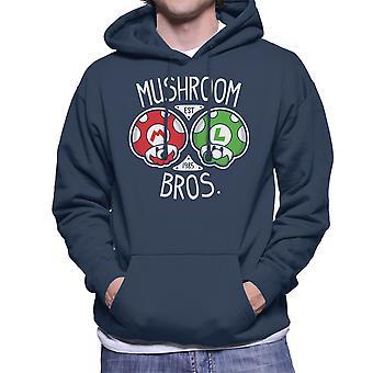Mushroom Bros Super Mario Men's Hooded Sweatshirt