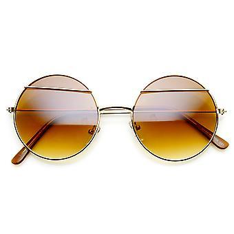Женская мода веко Леннон металла круглые солнцезащитные очки стиль