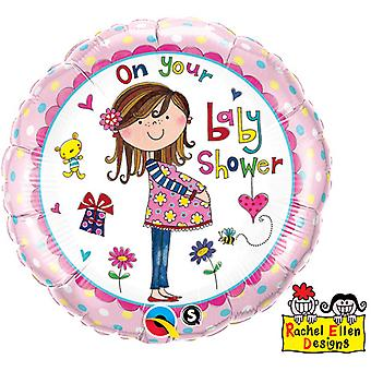 Qualatex 18 Inch On Your Baby Shower Circular Foil Balloon