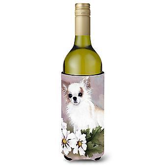 Chihuahua valkoisia kukkia viinipullo juoma eriste Hugger