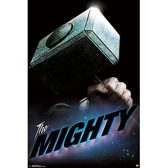 Thor - The Mighty Poster Poster Print