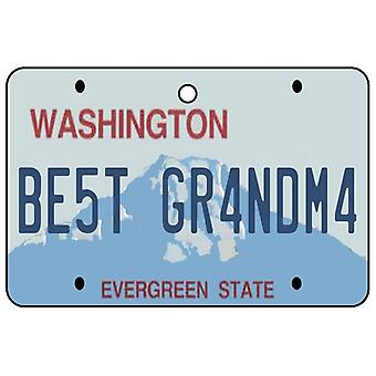 Washington - Best Grandma License Plate Car Air Freshener