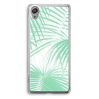 Sony Xperia XA1 przezroczyste etui (Soft) - liści palmowych
