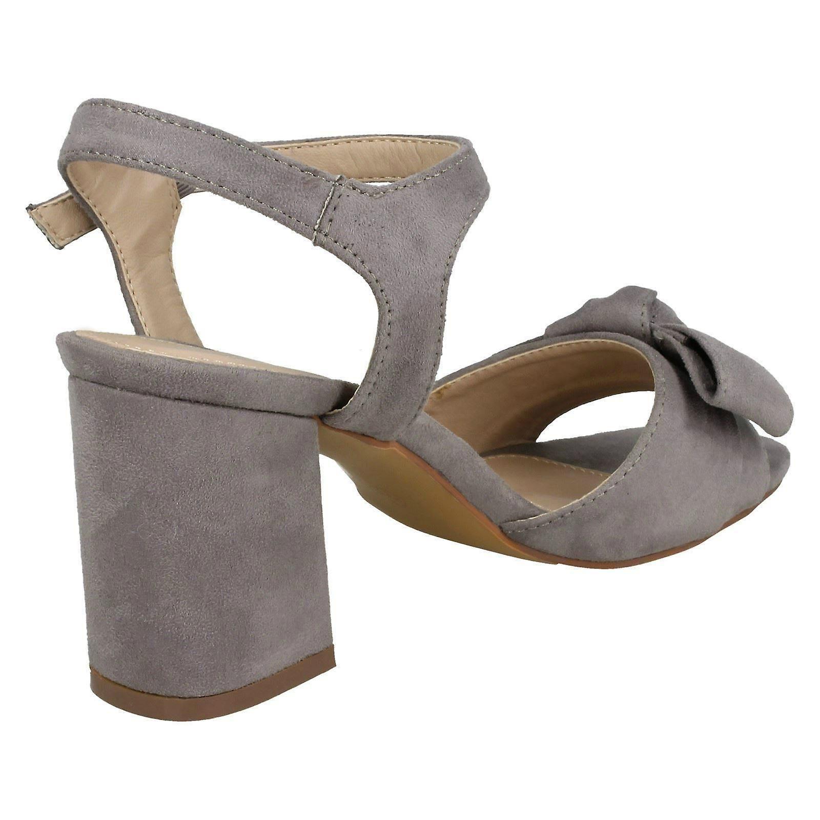 F10840 /'Ladies Spot On/' Blocked Heel Sandals