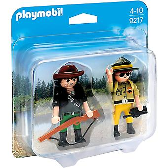 PLAYMOBIL 9217 kolekcjonerskich Ranger i Hunter Duo Pack