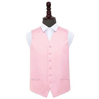Baby Pink almindelig Satin bryllup vest