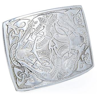 Solid Pewter Celtic Belt Buckle