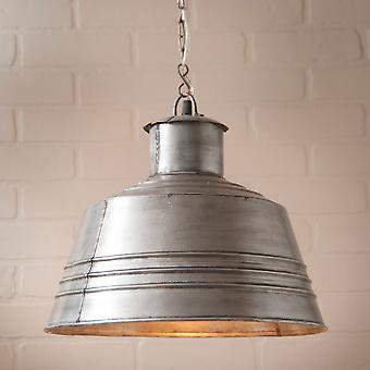 Irvin's Country Tinware Canning Table Pendant in Brushed Tin