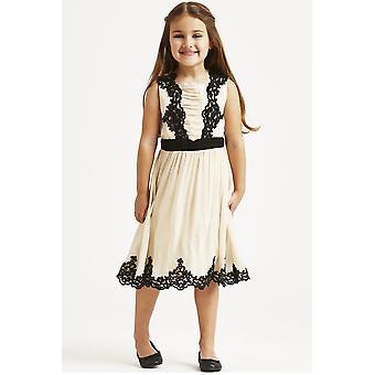 MisDress poca superposición vestido bordado