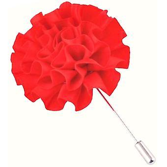 Bassin og brun blomst jakkeslaget Pin - rød