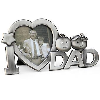 TRIXES ?I Heart Dad? Father?s Day Photo Frame