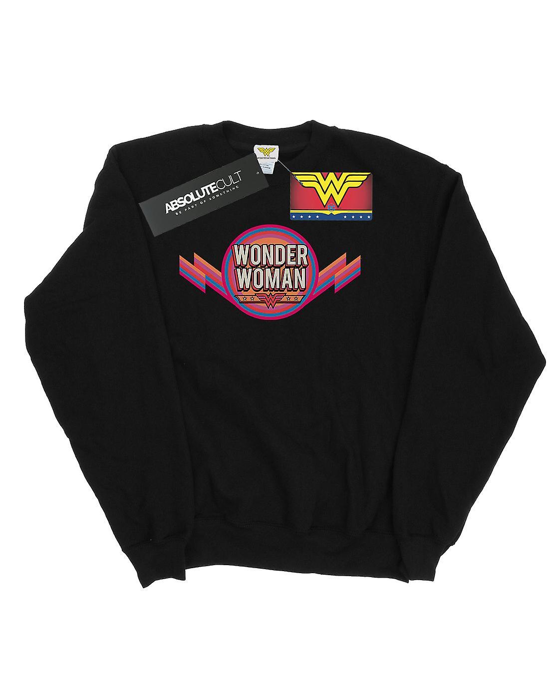 DC Comics Women's Wonder Woman Rainbow Logo Sweatshirt