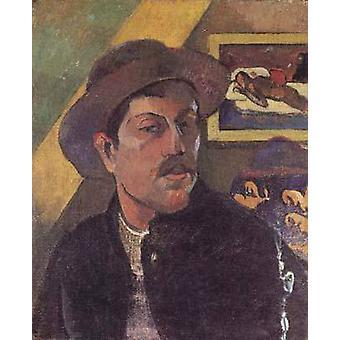 Auto-Retrato, Paul Gauguin, 46x38cm