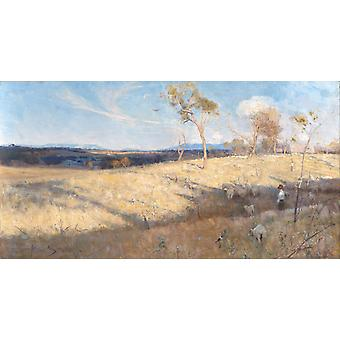 Golden Summer, Eaglemont, Arthur Streeton, 80x40cm