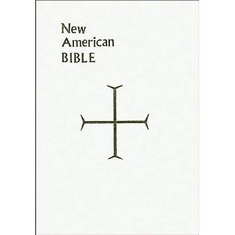 Bible de cadeau de Saint-Joseph, Full Size Print Edition: New American Bible (NAB), similicuir blanc