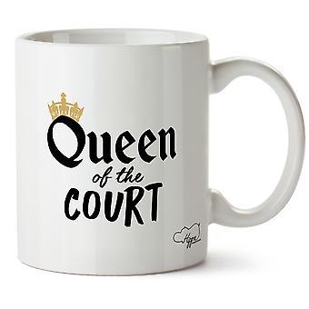 Królowa Hippowarehouse sądu Wydrukowano Kubek Kubek ceramiczny 10oz