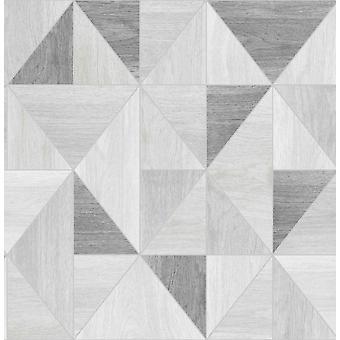 Décor fine Grain en bois effet Apex Wallpaper luxe géométriques métalliques 5 couleurs