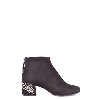 Mcq By Alexander Mcqueen Ezbc053033 Women's Black Suede Ankle Boots